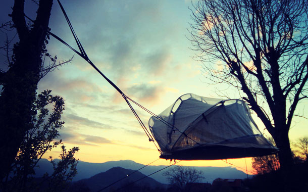dormir tente bulle camping du buisson saint martin d'uriage