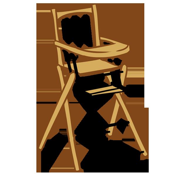 Combelle et sa chaise haute
