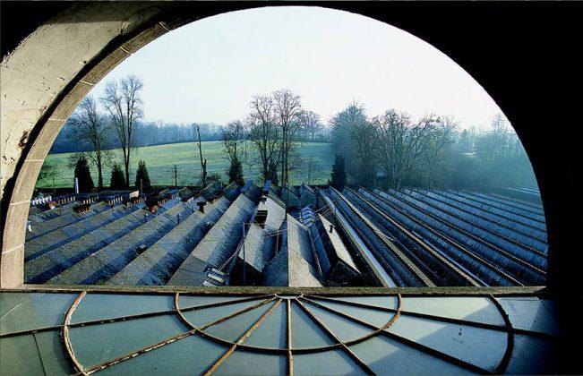 Toiles de Mayenne vue d'en haut
